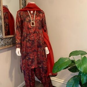 Authentic Pakistani Generation 3pc Silk suit